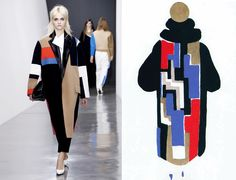 Sonia Delaunay, Trina Turk, Pop Art Fashion, 30s Fashion, Purple Fashion, Cubism Fashion, Celine, Abstract Art Images, Dress Images