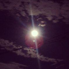 MOON, in the night, light, sun in the night