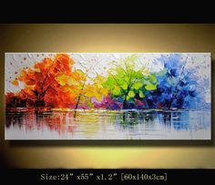 Original Abstract Painting, Modern Textured Painting,Impasto Landscape Textured Modern Palette Knife Painting,Painting on Canvas byChen n067 Size: 24x55x1.2 [60x140x3cm] Stretched thickness: 1.2 (3cm ) Framed / Stretched ( Ready to hang! ) The sides are staple-free and are painted black. It is ready to hang . Payment Details: we prefer paypal Do remember to leave your phone number in the note field Shipment and Packing charge : By Air Mail Or EMS to world-wide Parcel will be ...