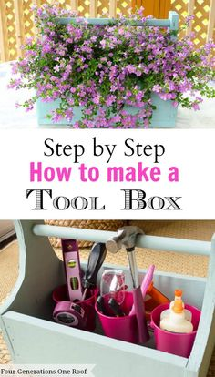 how to make a wooden toolbox or planter