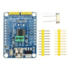 STM32F030F4P6 Development Board w/ TTL Serial Port Download. All IO port lead out; Serial individual lead out, with multi 3.3V 5V power supply, convenient for external function power supply; One user LED light; One reset button; Serial download BOOT option; SWD download interface; One power LED indicator.. Tags: #Electrical #Tools #Arduino #SCM #Supplies #Boards #Shields
