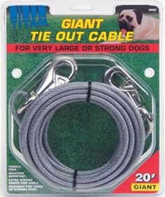 Titan Dog Tie Out Cable ** See this awesome image  : Dog Training and Behavior Aids