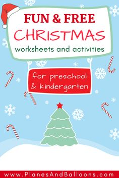 Fun free printable Christmas worksheets and activities for preschool and kindergarten. Christmas math activities, fine motor skills, writing and pre-writing, Christmas literacy centers ideas and more! Free Printable Christmas Worksheets, Christmas Worksheets Kindergarten, Preschool Christmas Activities, Kindergarten Math Activities, Kids Worksheets, Number Activities, Counting Activities, Reading Activities, Winter Activities
