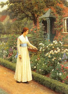 Edmund Blair Leighton - Summer Roses