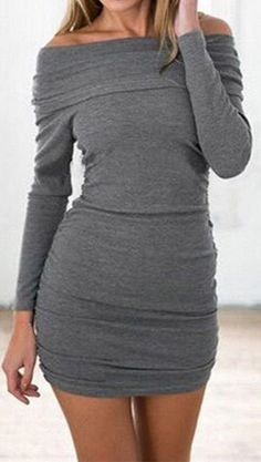 Sexy bodycon sweater dress