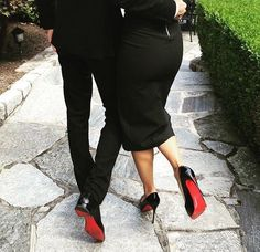 His and hers Louboutins