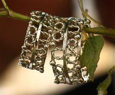 podkovička pre šťastie/horseshoe for good luck Stone Gold, Cuff Bracelets, Gold Rings, Handmade Jewelry, Stones, Silver, Fashion, Moda, Rocks