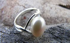 Sweet Sweet Silver -like one of the bracelets Pearl Ring, Pearl Earrings, Nail Accessories, White Freshwater Pearl, Sweet Sweet, Hair And Nails, Sterling Silver Rings, Gemstone Rings, Gemstones