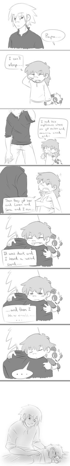 Papa Soul doing his thing by KeysaMoguri on deviantART. Soul is such a good parent :3 I REPEAT, WHY THE HELL IS SOUL X MAKA NOT CANON??!