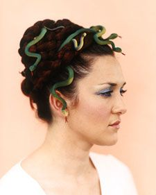 Medusa hairstyle and snakes
