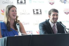 I always loved this photo of Allison Schmitt and Michael Phelps