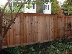 Capped Board On Board Privacy Fence Without The Taller