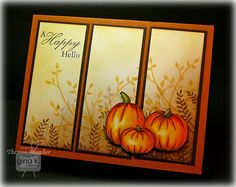 Crafting The Web: Happy Pumpkins, fall, pumpkin dies How To Make Scrapbook, Scrapbook Cards, Scrapbooking Ideas, Fall Cards, Holiday Cards, Christmas Cards, Halloween Cards, Fall Halloween, Happy Pumpkin