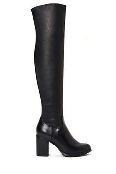 I love the drama of high boots. How would you style them?