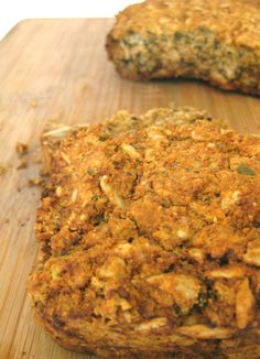 grain free sprouted bean bread. Instead of Garbanzo flour, use Chickpea flour. Super healthy!!