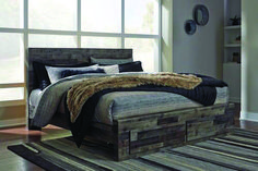 Derekson Queen/King Under Bed Storage by Signature Design by Ashley. Get your Derekson Queen/King Under Bed Storage at Home Source Rentals, Savannah GA furniture store. Farmhouse Bedroom Furniture, Modern Farmhouse Bedroom, Modern Bedroom, Contemporary Bedroom, Farmhouse Layout, Rustic Master Bedroom, Queen Bedroom, Bedroom Decor, Bedroom Ideas