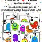 This is a fun and exciting math game that helps students practice their addition and subtraction math facts. Older or advanced students can use some multiplication for added game strategy. The game is for 2-4 players. Your students will have so much fun, they won't even realize they are practicing their math facts!