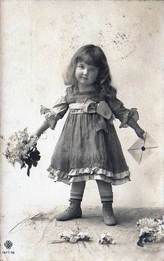 Vintage Postcard ~ Little Sweetie by chicks57, via Flickr