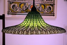 Hanging Lotus Lamp (1905) by Louis Comfort Tiffany at MoMA. New York, NY.