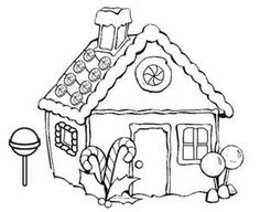pictures gingerbread house coloring pages