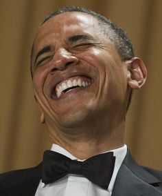 President Obama laughs as comedian Jimmy Kimmel gives his monologue during the White House Correspondents Association Dinner in Washington, D.C., on April 28.