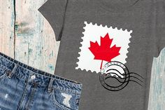 Canada Day Svg, Maple Leaf Svg, Silhouette SVG Cutting Files Clip Art printable quote iron on shirt coz Cricut Canada, Canada Day Shirts, Printable Quotes, Silhouette Projects, First They Came, Design Bundles, Cricut Ideas, Cutting Files, Free Design