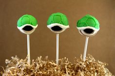 Super Mario Shell Cake Pops