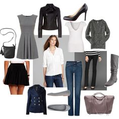 Daytime Capsule Wardrobe - A Bit More Casual by fashionablyresponsible, via Polyvore