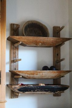A rack to hold dough bowls!  How cool is that?! ♥ Would be an easy DIY project!