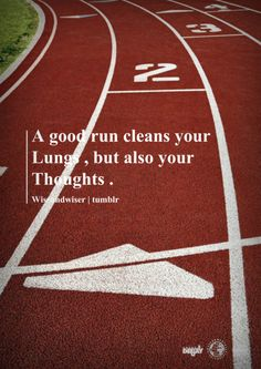 I always count on running to clear my head    So true one of the reasons I started :)