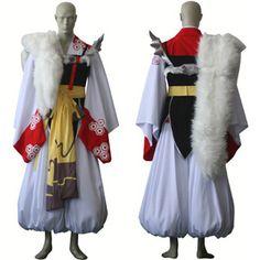 Inuyasha - Sesshomaru High quality custom designed cosplay uniform and accessories. Adult sizes only. Includes: Kimono,Hakama,Belt,Fur,Armor,