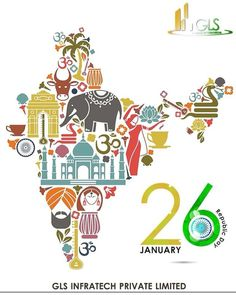 Post with 11 views. Let us get Educated, Evolved and Engaged in Hard Work to take our country to greater heights. Long Live our Republic & it's Common People. Wish you all a very warm happy republic day. Incredible India Posters, Amazing Photos, India Country, India Map, India India, India Travel, Fitness Motivation, Republic Day India, India Painting