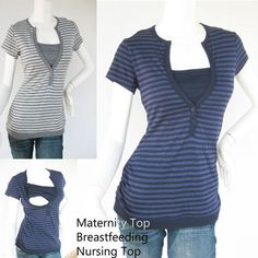 DIY idea nursing top - just use a bandeau or strip of fabric and sew it into the sides under a shirt