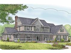 Home Plan HOMEPW25642 is a gorgeous 2599 sq ft, 2 story, 5 bedroom, 2 bathroom plan influenced by + Farmhouse  style architecture.another bathroom and perfection!