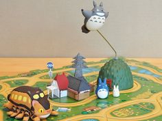 Strapya World : Studio Ghibli My Neighbor Totoro - Catbus Rail Puzzle Set Buy A Kitten, Cats And Cucumbers, Cat Stands, Cats Bus, Cat Drinking, Cat Memorial, My Neighbor Totoro, Hayao Miyazaki, Cat Sitting