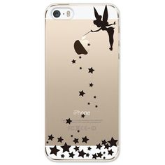 NEW!! iPhone 5s/5 Hard Case Cover Disney Tinker Bell Star clear black from JAPAN