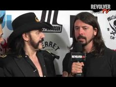 Dave Grohl and Lemmy goofing off backstage at Revolver Golden Gods-  EXC...