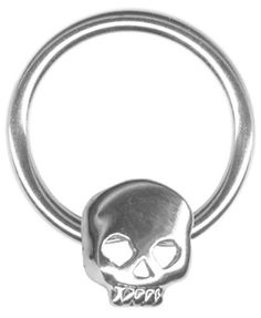 14 gauge Nipple Ring-One 14g 5/8 inch Skull Captive Ring-Mens Nipple Ring BodySparkle. $7.99. 14 gauge 5/8 inch (16mm) inner diameter. Sold Individually, Not in Pairs. See our complete line of skull body jewelry including captive rings for cartilage piercings, ear piercings, earrings for men.. Skull is held in by pressure and hoop must be opened slightly to get skull out. Please request instructions for captive rings if you are not familiar with how captive rings work....