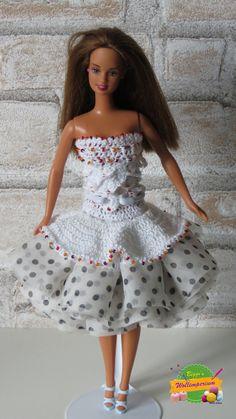 Kleid für Barbie Puppe von Haekelbiggi auf Etsy