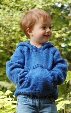 Baby Pullover stricken blau und robust