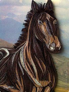 Картина панно рисунок Квиллинг ВОЛЬНЫЙ ВЕТЕР Бумага Клей фото 2