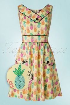 Retrolicious Pineapple Dress  102 89 17897 20160531 0006WV