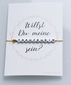 Bracelet gift groomswoman ask Armband Geschenk Trauzeugin fragen Wedding Games, Diy Wedding, Wedding Flowers, Dream Wedding, Let's Get Married, Getting Married, Acrylic Letters, Email Gift Cards, Printable Bridal Shower Games