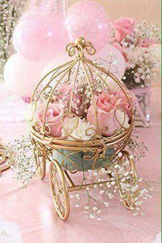 Wedding Photo   Inspired By Disneyu0026 Fairytale Wedding Cinderellau0026 Carriage  Coah Pumpkin Table Centerpiece
