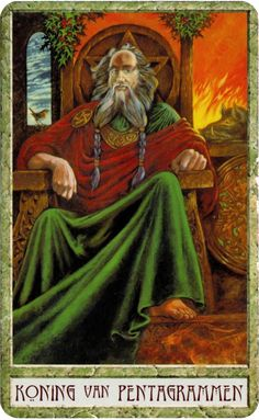 King of Pentacles - Druidcraft tarot by Stephanie Carr-Gomm, Philip Carr-Gomm, Will Worthington