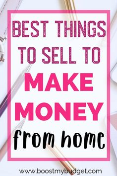 Selling Online: When you need to make money, a great way to start is by selling things online. But what are the best things to sell online to make money? Earn Money From Home, Make Money Fast, Earn Money Online, Make Money Blogging, Saving Money, What Can I Sell, What To Sell Online, Things To Sell Online, Making Extra Cash