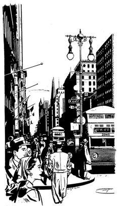 Harry Devlin. #city #ink