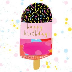 Happy Birthday Card with Ice Cream Happy Birthday Quotes, Happy Birthday Images, Happy Birthday Greetings, Birthday Messages, Birthday Pictures, 1st Birthday Party For Girls, Birthday Pins, Birthday Love, Vintage Birthday Cards