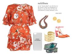 """The goddess"" by the-trickster-king on Polyvore featuring River Island, Isharya, Jimmy Choo, ASOS, Heels, phonecase, jewlery and romper"