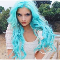 Bright turquoise blue pastel dyed hair color - - Bright turquoise blue pastel dyed hair color The Effective Pictures We Offer You About long hair A - Bright Hair Colors, Hair Color Purple, Hair Dye Colors, Cool Hair Color, Colorful Hair, Bright Blue Hair, Pastel Blue, Twisted Hair, Hair Color For Fair Skin